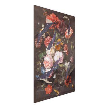 Forex Fine Art Print - Jonas Loose - Blumen mit Galaxie - Hochformat 3:2