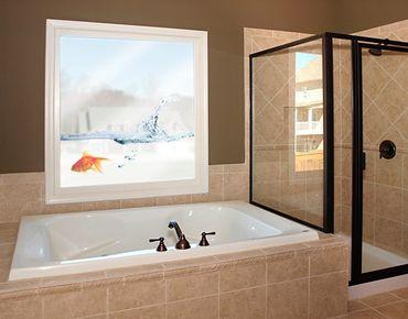 Fensterfolie - Fenstersticker No.479 Goldfisch - Fensterbilder