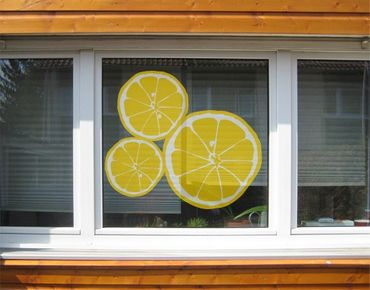Fensterfolie - Fenstersticker No.UL610 Zitronenscheiben - Fensterbilder