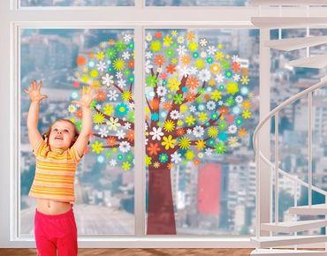 Fensterfolie - Fenstersticker No.484 Traumzauberbaum - Fensterbilder