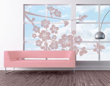 Fensterfolie - Fenstertattoo - No.EG1 Wild Cherry - Fensterbilder Frühling