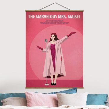 Stoffbild mit Posterleisten - Filmposter The Marvelous Mrs Maisel - Hochformat 4:3