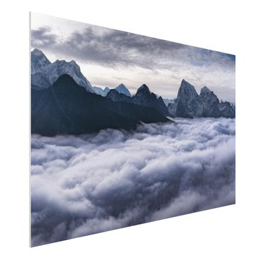 Forex Fine Art Print - Wolkenmeer im Himalaya - Querformat 2:3