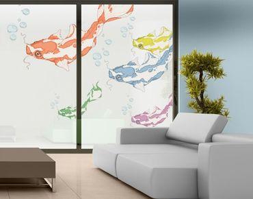 Fensterfolie - Fenstersticker No.MW3 Koi Set - Fensterbilder
