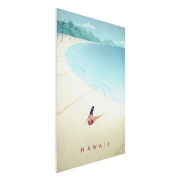 Forex Fine Art Print - Reiseposter - Hawaii - Hochformat 3:2