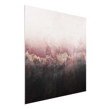 Forex Fine Art Print - Goldene Dämmerung Rosa - Quadrat 1:1