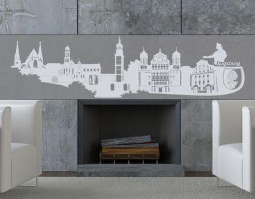Stadt Augsburg - Wandtattoo Skyline - No.KS5 Skyline Augsburg Wandtattoo