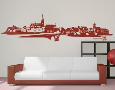 Wandtattoo Skyline No.IS85 Skyline Regensburg
