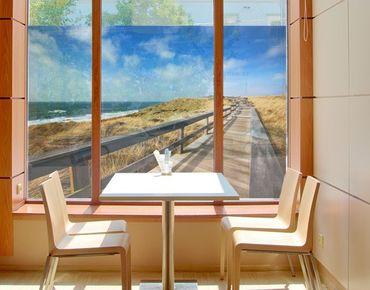 Fensterfolie - Sichtschutz Fenster Nordseespaziergang - Fensterbilder