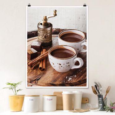 Poster - Heiße Schokolade - Hochformat 3:4