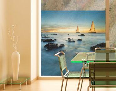 Fensterfolie - Sichtschutz Fenster Segelschiffe im Ozean - Fensterbilder