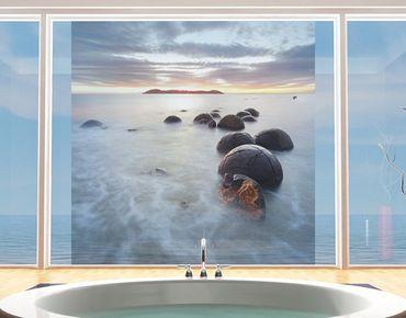 Fensterfolie - Sichtschutz Fenster Moeraki Neuseeland - Fensterbilder