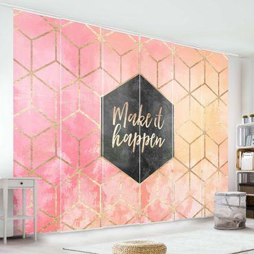 Schiebegardinen Set - Elisabeth Fredriksson - Make It Happen Geometrie Pastell - 6 Flächenvorhänge