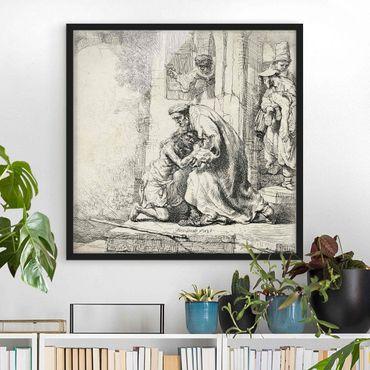 Bild mit Rahmen - Rembrandt van Rijn - Die Rückkehr des Sohnes - Quadrat 1:1