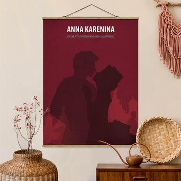 Stoffbild mit Posterleisten - Filmposter Anna Karenina - Hochformat 3:4