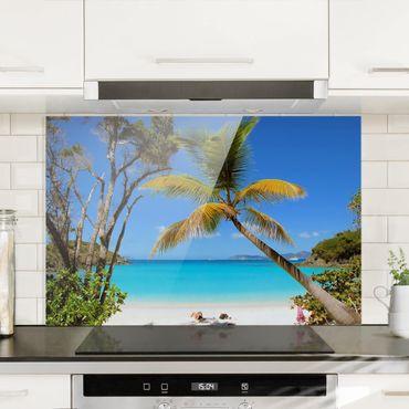 Spritzschutz Glas - Les Seychelles - Querformat - 3:2