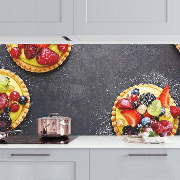 Küchenrückwand - Beerendessert