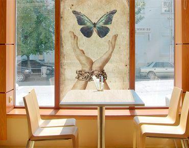 Fensterfolie - Sichtschutz Fenster Flieg, Schmetterling! - Fensterbilder
