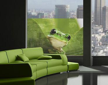 Fensterfolie - Sichtschutz Fenster Wetterfrosch - Fensterbilder