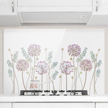 Spritzschutz Glas - Allium Illustration - Querformat - 3:2