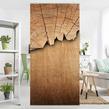 Raumteiler - Holzstruktur II 250x120cm