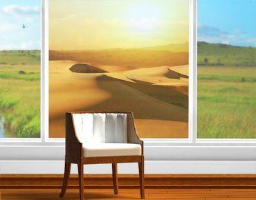 Fensterfolie - Sichtschutz Fenster Die Wüste Saudi-Arabiens - Fensterbilder