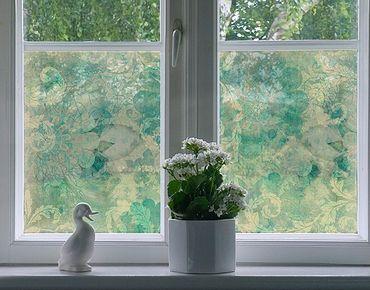 Fensterfolie - Sichtschutz Fenster Eisblumen - Fensterbilder