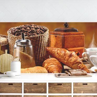 Küchenrückwand - Frühstückstisch