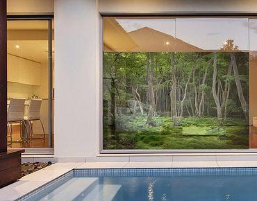 Fensterfolie - Sichtschutz Fenster Japanischer Wald - Fensterbilder