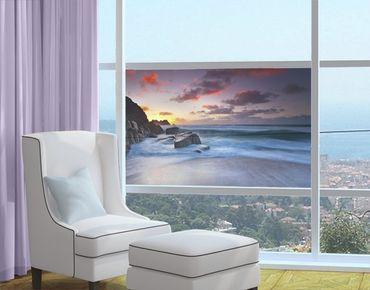 Fensterfolie - Sichtschutz Fenster Am Meer in Cornwall - Fensterbilder
