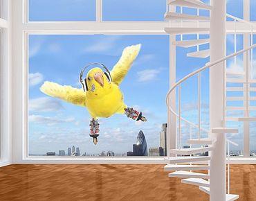 Fensterfolie - Fenstersticker No.427 Skatesittich - Fensterbilder