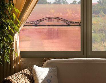 Fensterfolie - Sichtschutz Fenster The Fire Island Inlet Bridge - Fensterbilder