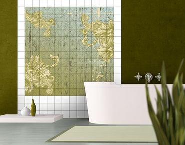 Fliesenbild - Floraler Barock