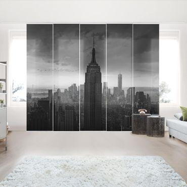Schiebegardinen Set - New York Rockefeller View - Flächenvorhänge