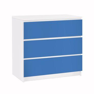 Möbelfolie für IKEA Malm Kommode - Klebefolie Colour Royal Blue