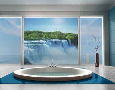 Fensterfolie - Sichtschutz Fenster Wasserfalllandschaft - Fensterbilder