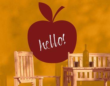 Wandtattoo Kreidetafel No.EK75 Apfel