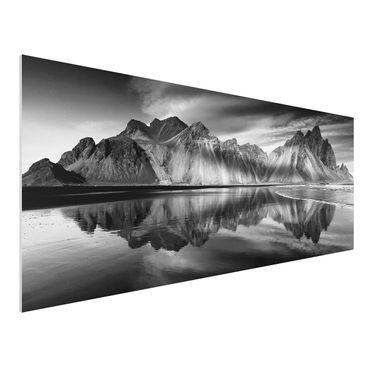 Forex Fine Art Print - Vesturhorn in Island - Panorama