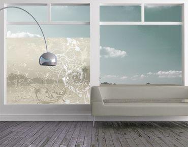 Fensterfolie - Sichtschutz Fenster Perlmutt Ornament Design - Fensterbilder