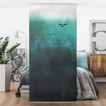Raumteiler - Fische in der Tiefsee - 250x120cm
