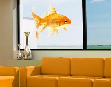 Fensterfolie - Sichtschutz Fenster Frau Goldfisch - Fensterbilder