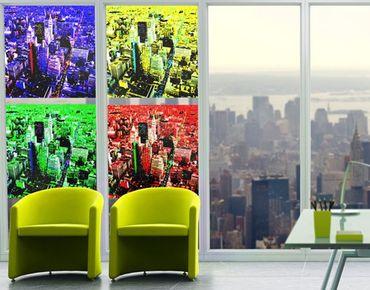 Fensterfolie - Sichtschutz Fenster Pop NYC Quattro - Fensterbilder