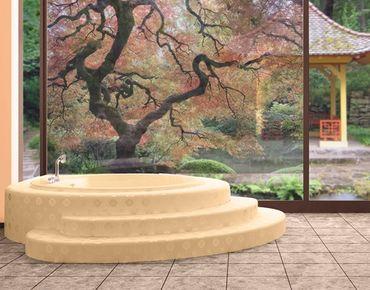 Fensterfolie - Sichtschutz Fenster Japanischer Garten - Fensterbilder
