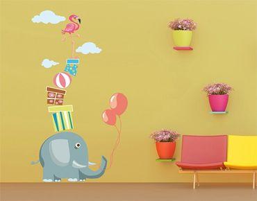 Wandtattoo Elefant No.MW74 Balanceakt