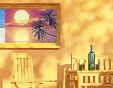 Fensterfolie - Sichtschutz Fenster Karibischer Sonnenuntergang - Fensterbilder