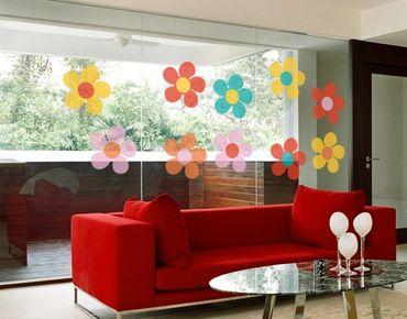 Fensterfolie - Fenstersticker - No.UL728 PopFlowers - Fensterbilder Frühling
