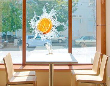 Fensterfolie - Fenstersticker No.434 Frische Orange - Fensterbilder