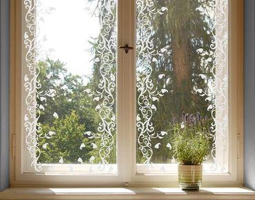 Fensterfolie - Fenstertattoo Bordüre No.CA12 Herbstbordüre - Milchglasfolie