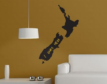 Wandtattoo Kreidetafel No.AC82 Neuseeland