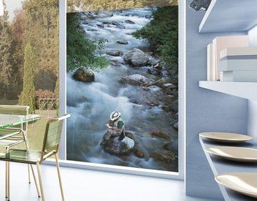 Fensterfolie - Sichtschutz Fenster Fliegenfischer in Colorado - Fensterbilder